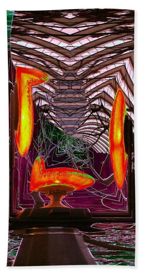 Lamp Hand Towel featuring the photograph Molten by Tim Allen