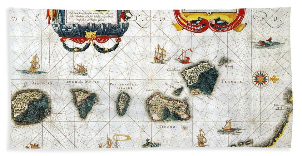 1662 Hand Towel featuring the photograph Moluccas: Spice Islands by Granger