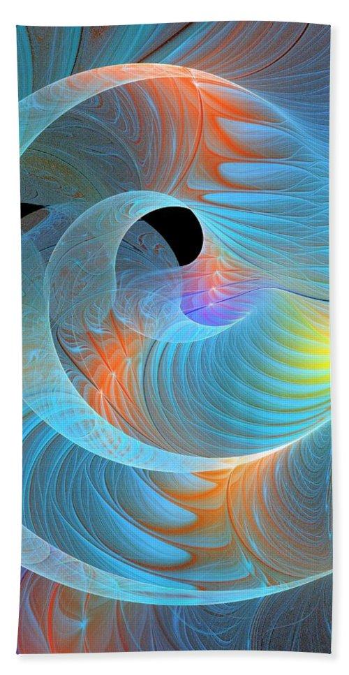 Digital Art Hand Towel featuring the digital art Moment Of Elation by Amanda Moore