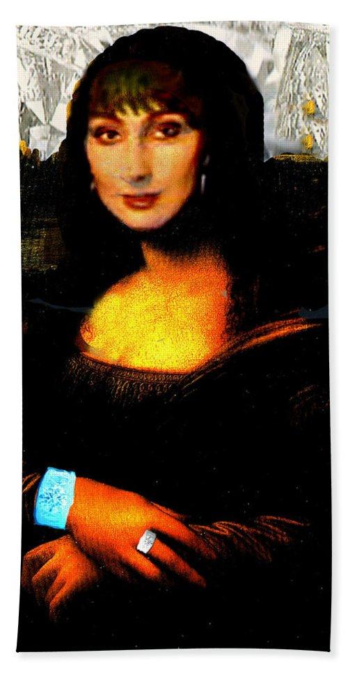 Mona Cher Bath Towel featuring the digital art Mona Cher by Seth Weaver