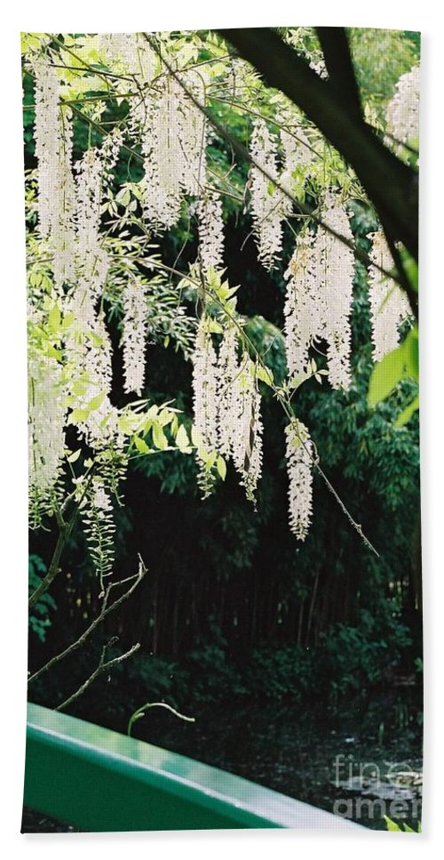 Monet Bath Towel featuring the photograph Monet's Garden Delights by Nadine Rippelmeyer