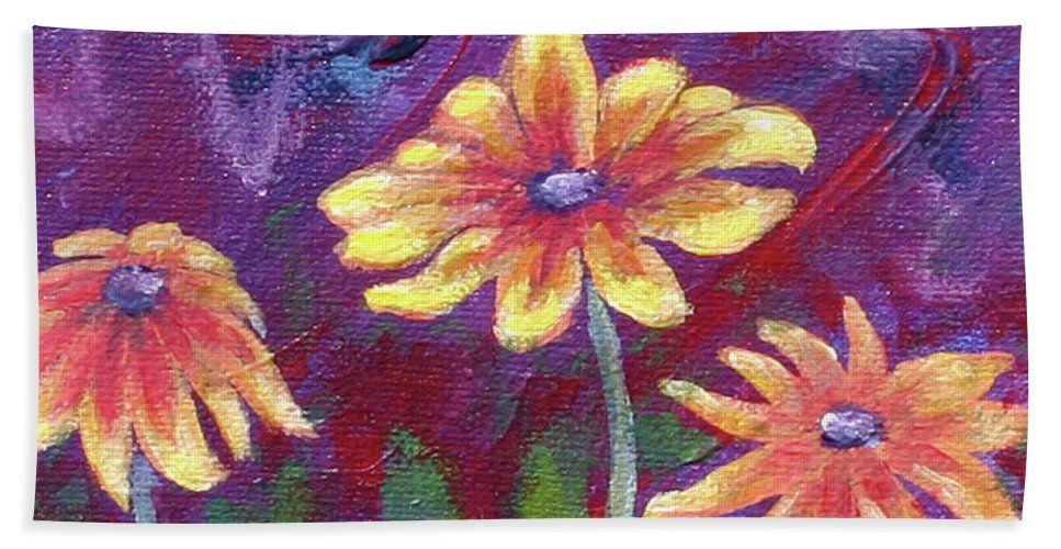 Small Acrylic Painting Hand Towel featuring the painting Monet's Small Composition by Jennifer McDuffie
