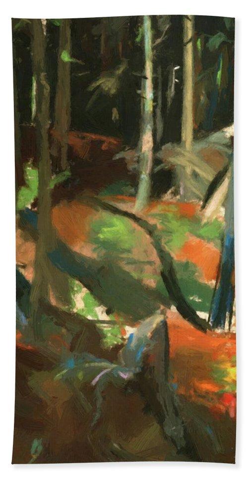 Monhegan Bath Sheet featuring the painting Monhegan Maine by Henri Robert