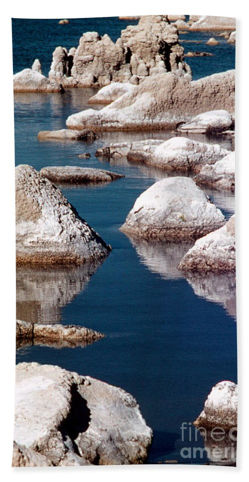 California Scenes Bath Sheet featuring the photograph Mono Lake Tufa by Norman Andrus