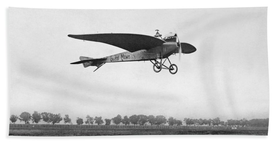 1910 Bath Sheet featuring the photograph Monoplane, 1910 by Granger