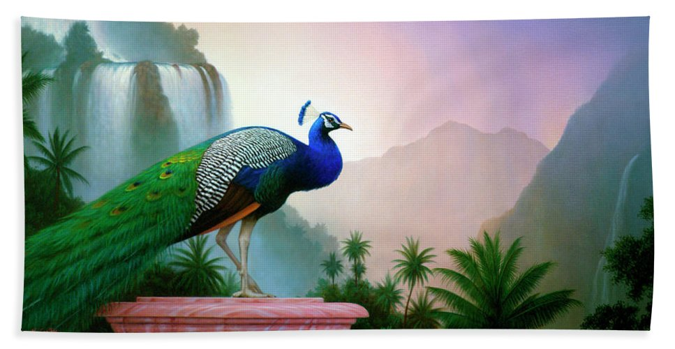 Landscape Bath Towel featuring the painting Monsoon by Brian McCarthy