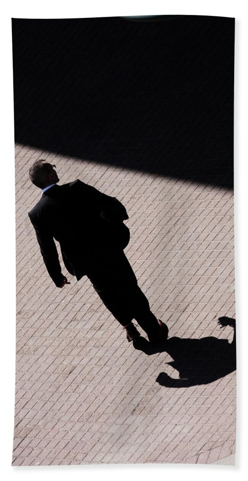 Street Photography Hand Towel featuring the photograph Monster Of Shadows by The Artist Project