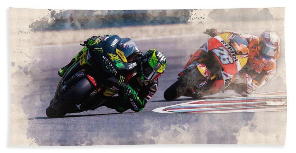 Formula 1 Bath Sheet featuring the digital art Monster Yamaha by Don Kuing
