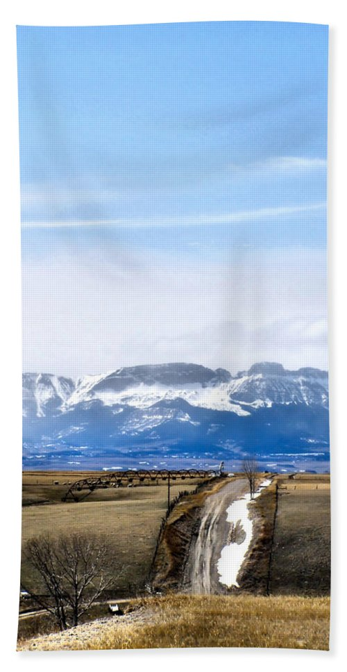 Montana Bath Towel featuring the photograph Montana Scenery one by Susan Kinney