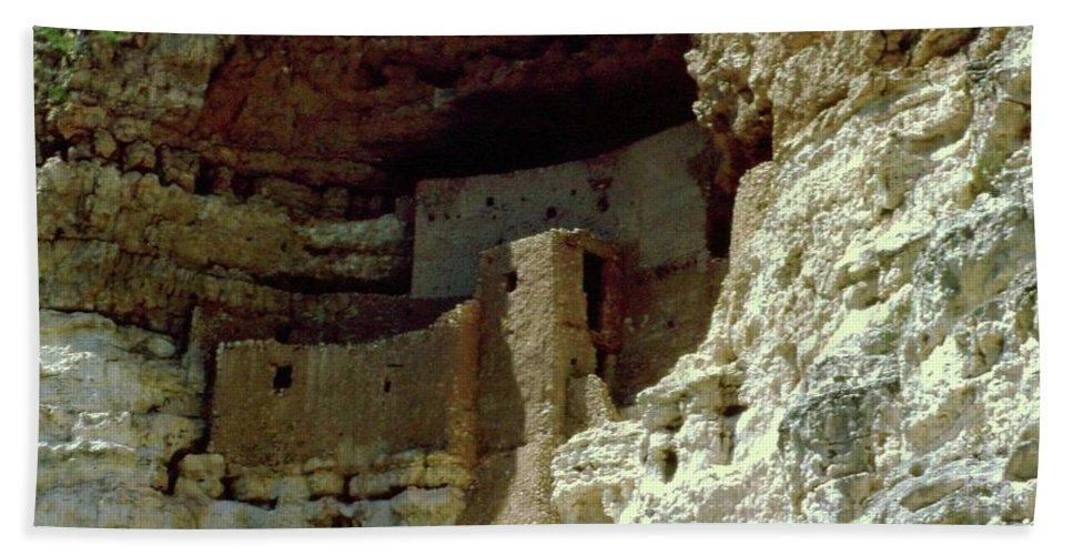 Arizona Bath Sheet featuring the photograph Montezumas Castle by Gary Wonning