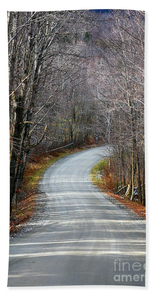 Road Hand Towel featuring the photograph Montgomery Mountain Road by Deborah Benoit