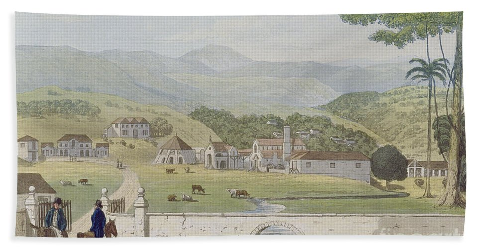 Montpelier Hand Towel featuring the painting Montpelier Estates - St James by James Hakewill