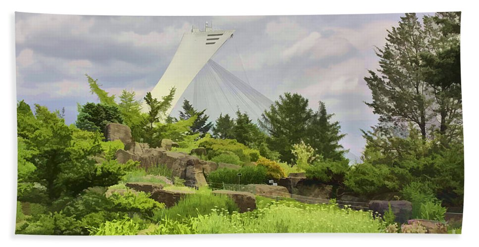Montreal Bath Sheet featuring the photograph Montreal Biodome Backdrop by Deborah Benoit