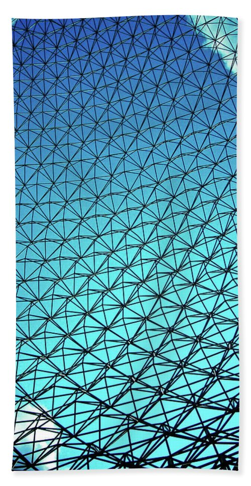 North America Hand Towel featuring the photograph Montreal Biosphere by Juergen Weiss