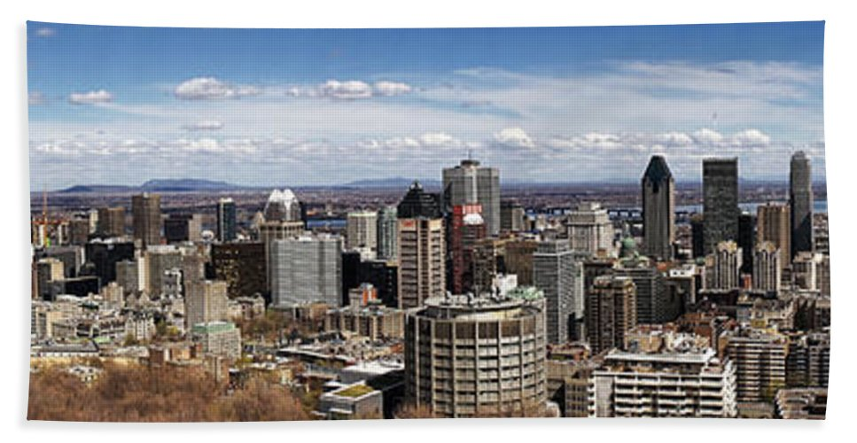 Montreal Bath Sheet featuring the photograph Montreal Seen From Above by For Ninety One Days