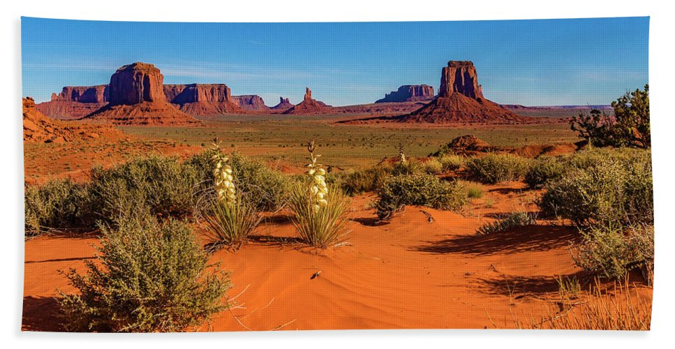 Monument Valley Bath Towel featuring the photograph Monument Valley by Norman Hall