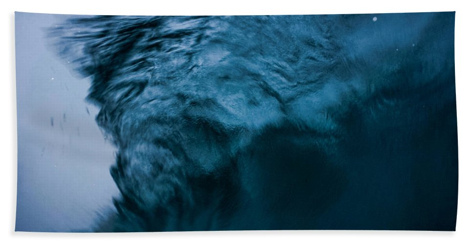 Ocean Hand Towel featuring the photograph Moody Blues by JJ Tondo