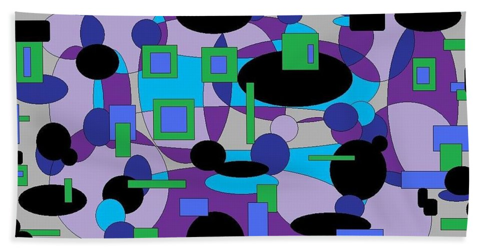 Digital Abstract Bath Sheet featuring the digital art Moody Purple by Jordana Sands