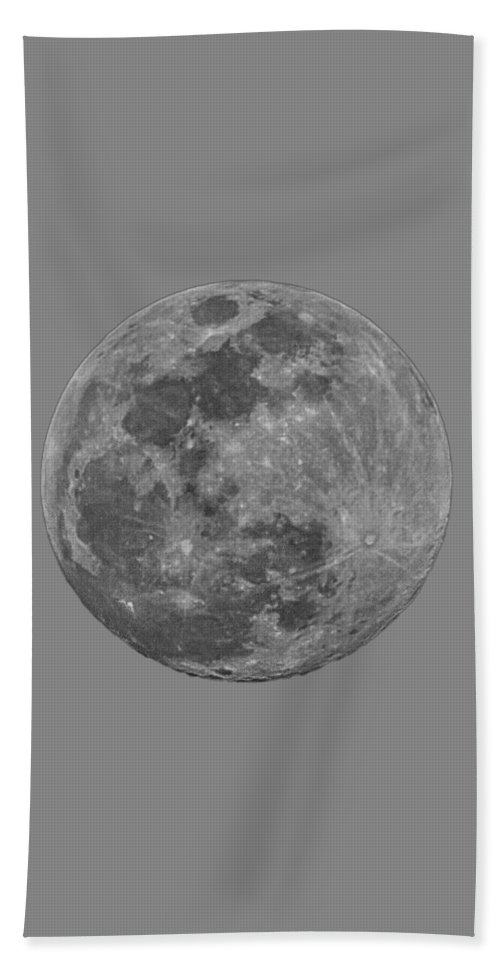 Acrylic Prints Hand Towel featuring the photograph Moon 98 Percent by Mark Myhaver