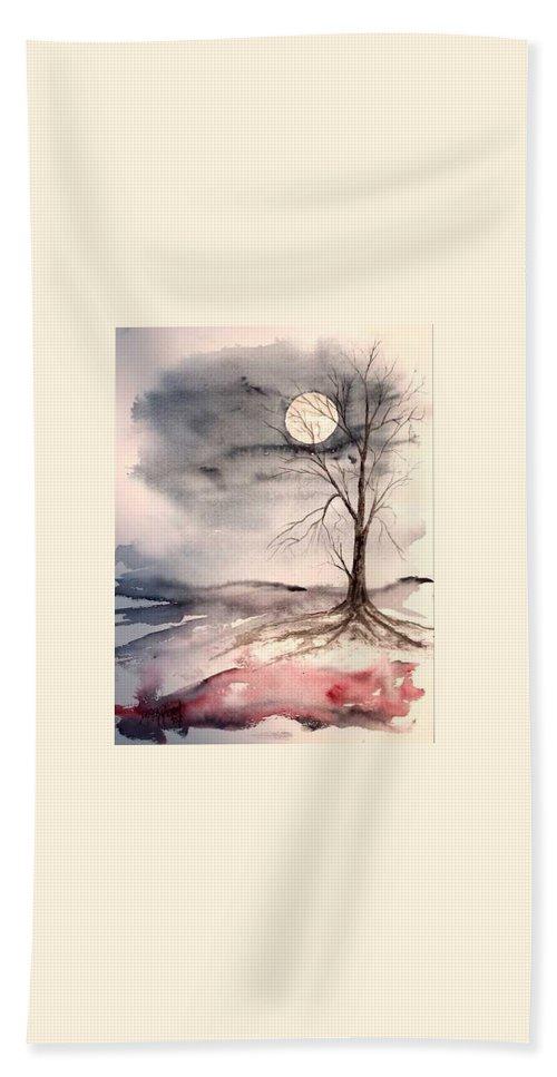 Moon Bath Sheet featuring the painting Moon Light by Derek Mccrea