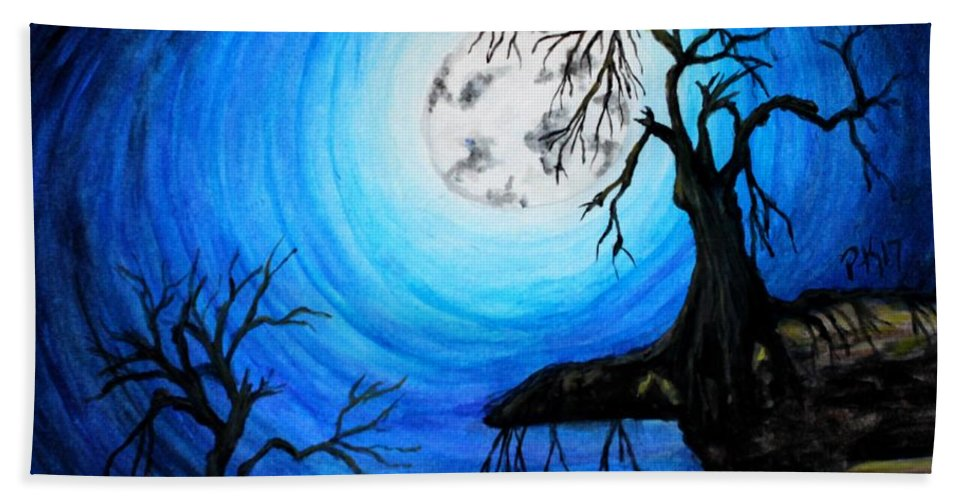 Moon Bath Sheet featuring the painting Moon Lit by Patty Vanberkom