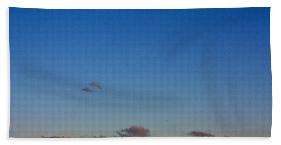 Moon Hand Towel featuring the photograph Moon Over Clouds by Casper Cammeraat