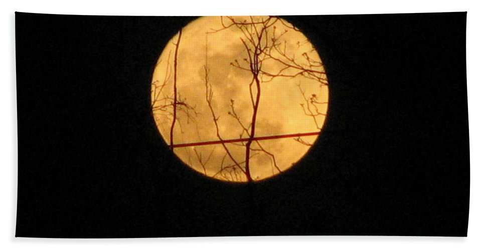 Moon Hand Towel featuring the photograph Moon by Stacey May