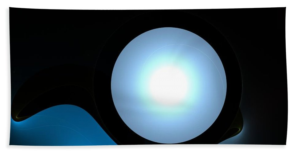 Moon  Hand Towel featuring the digital art Moon by Steve K