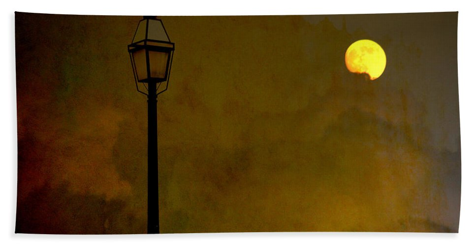 Moon Hand Towel featuring the photograph Moon Walker by Susanne Van Hulst