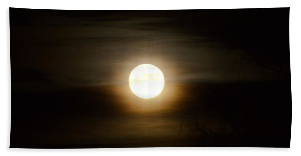 Moon Hand Towel featuring the photograph Moonlight by FL collection