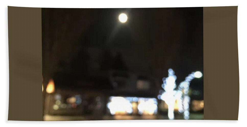 Art Bath Sheet featuring the photograph Moonlight In Edgemont by Geoffrey Feng