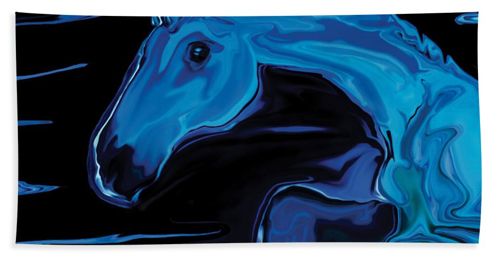 Animal Hand Towel featuring the digital art Moonlit Run by Rabi Khan
