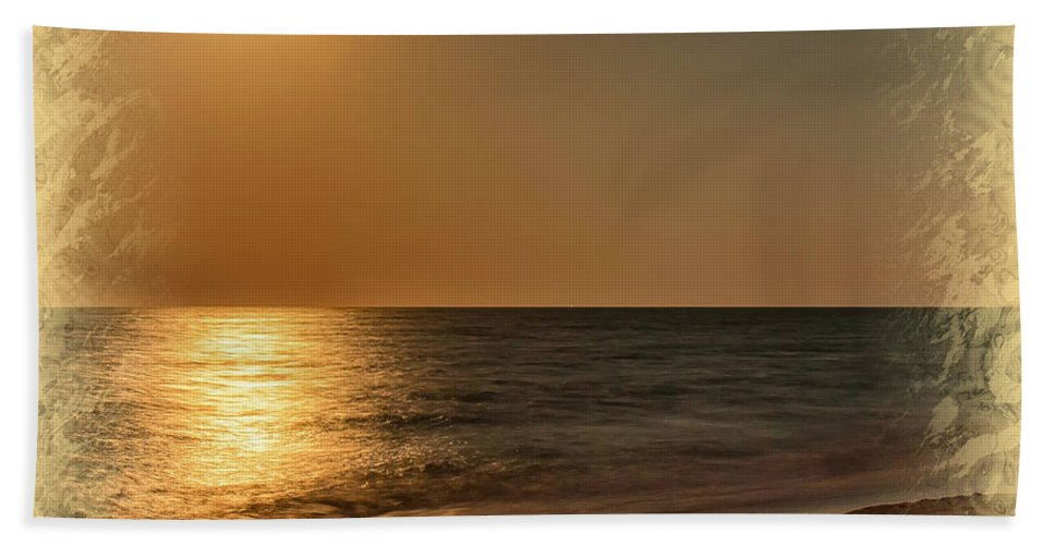 Beach Hand Towel featuring the photograph Moonscape 2 by John M Bailey