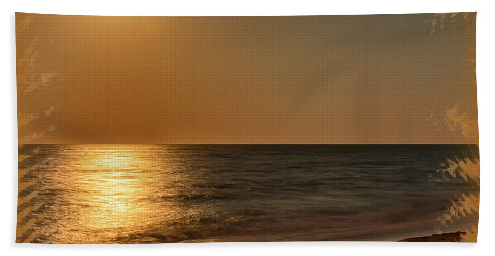 Beach Hand Towel featuring the photograph Moonscape 3 by John M Bailey