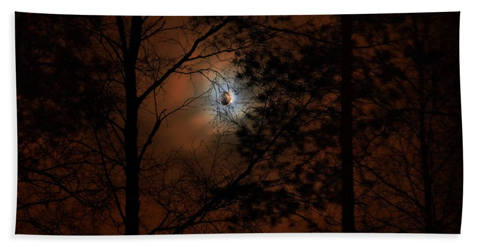 Lehtokukka Hand Towel featuring the photograph Moonshine 04 Bad Moon Rising by Jouko Lehto