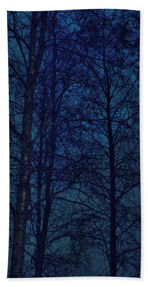 Lehtokukka Hand Towel featuring the photograph Moonshine 12 Blue Sky by Jouko Lehto