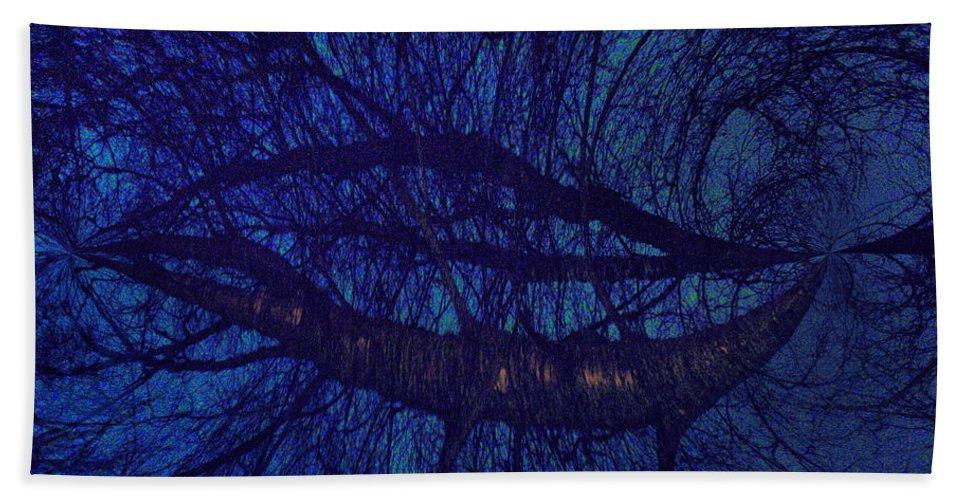 Lehtokukka Hand Towel featuring the photograph Moonshine 19 Space by Jouko Lehto