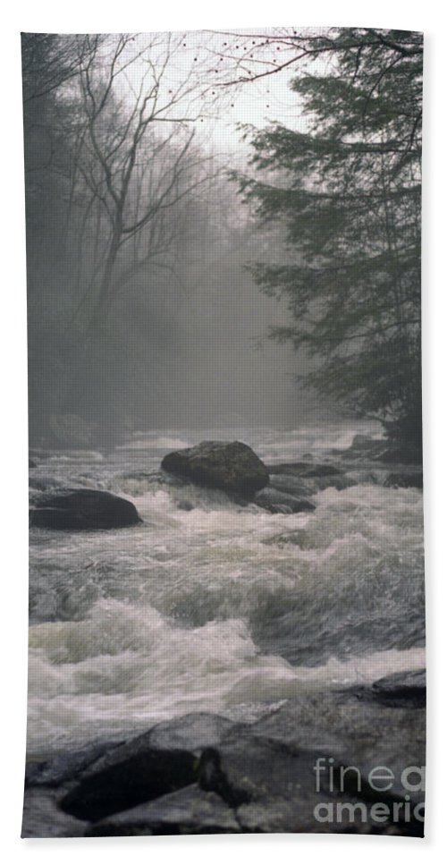 Rivers Hand Towel featuring the photograph Morning At The River by Richard Rizzo