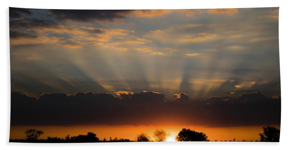 Sunrise Hand Towel featuring the photograph Morning Bliss by Jeff Sebaugh