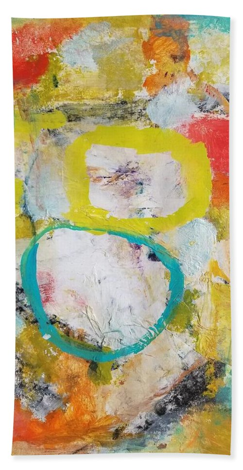 Abstract Bath Towel featuring the painting Morning Calm by Patricia Byron