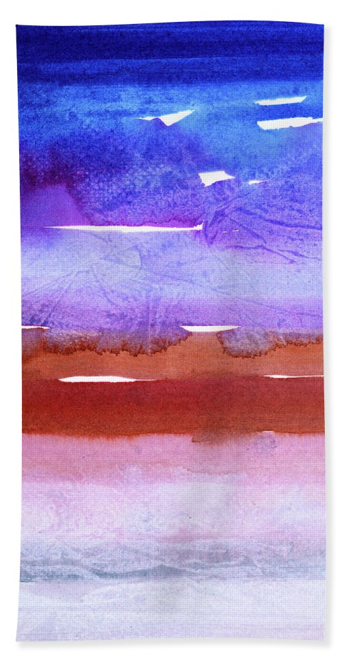 Contemporary Hand Towel featuring the painting Morning Comes by Tonya Doughty