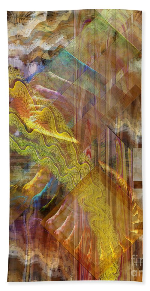 Morning Dance Hand Towel featuring the digital art Morning Dance by John Beck