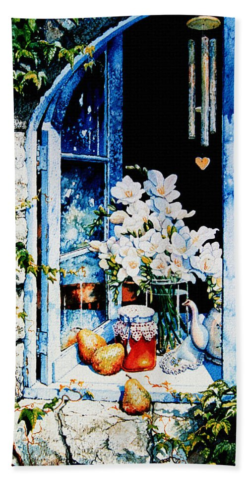 Morning Delight Hand Towel featuring the painting Morning Delight by Hanne Lore Koehler