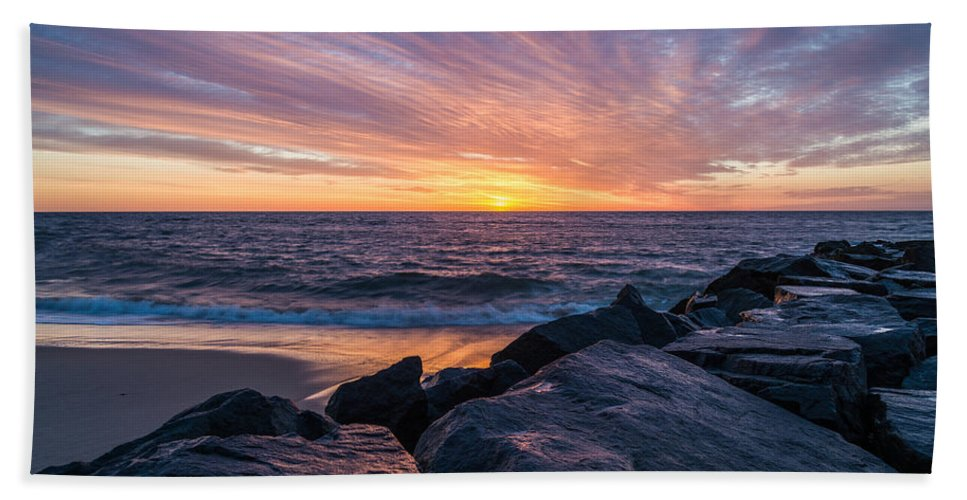 New Jersey Hand Towel featuring the photograph Morning Extremes by Kristopher Schoenleber