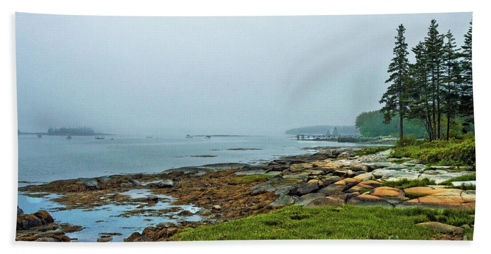 Hand Towel featuring the photograph Morning Fog - Maine by Zbigniew Krol