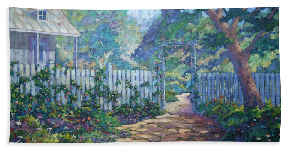Painter Art Bath Sheet featuring the painting Morning Glory by Richard T Pranke