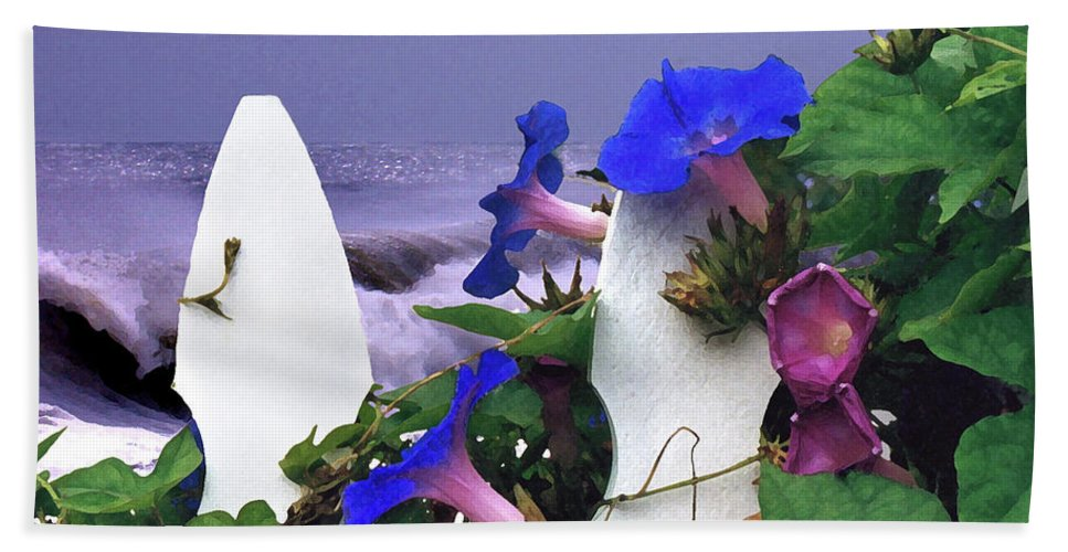 Flower Bath Towel featuring the digital art Morning Glory by Steve Karol