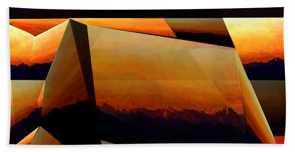 Alpen Bath Sheet featuring the mixed media Morning In The Alps by Helmut Rottler