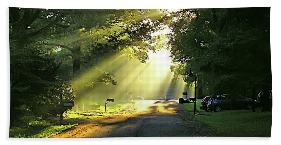 2d Bath Sheet featuring the photograph Morning Light by Brian Wallace