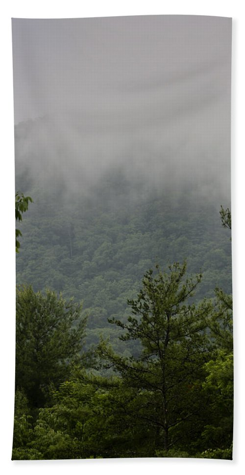 Bluestone Hand Towel featuring the photograph Morning Mist Bluestone State Park West Virginia by Teresa Mucha